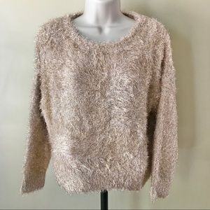 Wild Fable Gold Metallic Sweater Size L